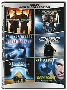 Sci-Fi-6-Film-Collection-Universal-Soldier-Total-Recall-Highlander-Sci-Fi-R1-DVD