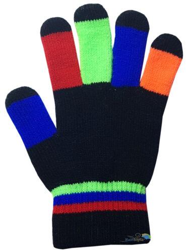 Children/'s Kids Magic Gloves Colourful Fingers Boys Girls Winter Warm One Size