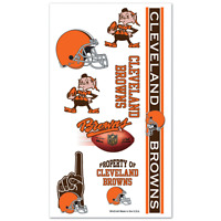 Cleveland Browns Temporary Tattoos Game Tailgate Party Face Body Nfl Football