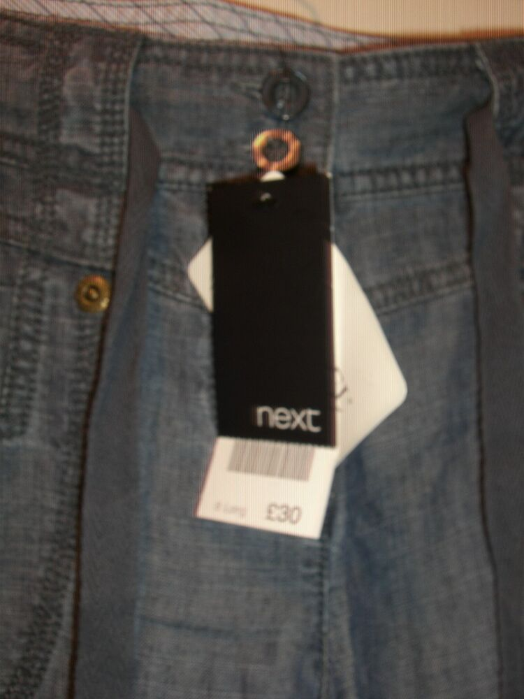 Next Boyfriend Souple Léger Denim Jeans Bnwt Uk 8