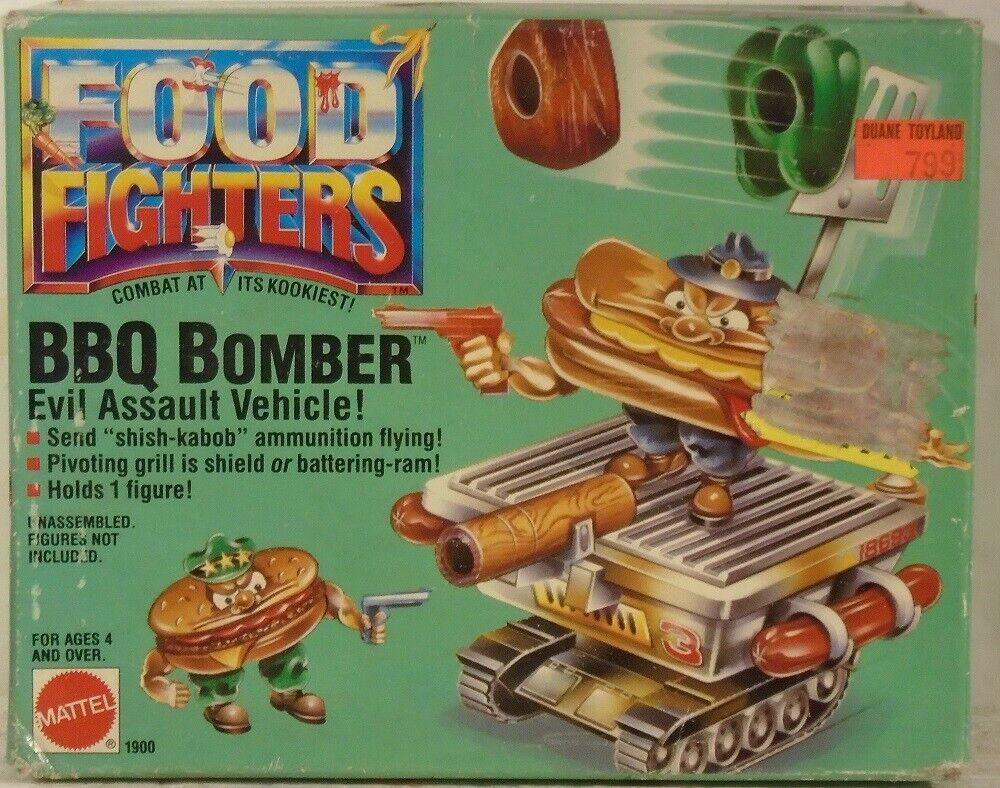 Mattel Food Fighters BBQ Bomber Evil Assault Vehicle Shish Kabob Ammo (SEALED)
