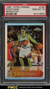 1996-Topps-Chrome-Refractor-Steve-Nash-ROOKIE-RC-182-PSA-10-GEM-MINT