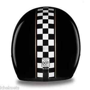 new slim line d.o.t. 3/4 motorcycle helmet daytona cruiser- cafe