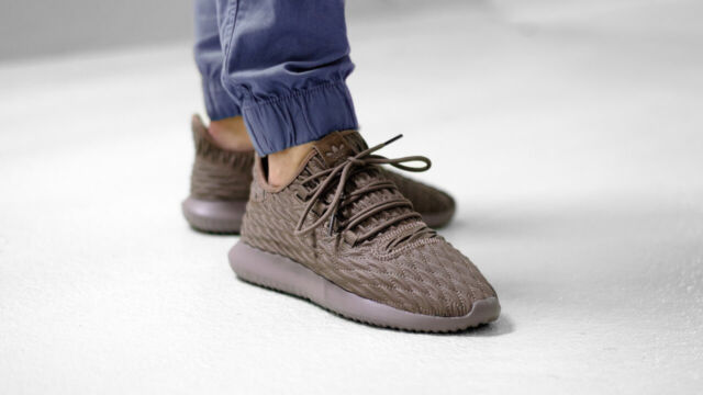 size 40 595bf a49d4 NIB Men's Adidas BB8974 Tubular Shadow Trace brown Shoes