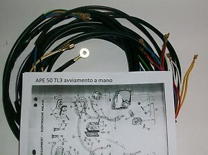 Schema Elettrico Ape 50 Monofaro : Impianto elettrico electrical wiring ape tl avviamento a mano
