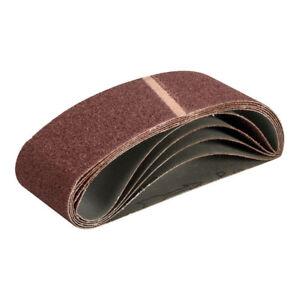 """Aluminium Oxide Sanding Belt x 5 Sandpaper 40G 60G 80G 100G 120G 180G Grit 21"""""""