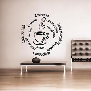 Wandtattoo Küche Mocca Espresso Kaffee Cappuccino +157+ | eBay