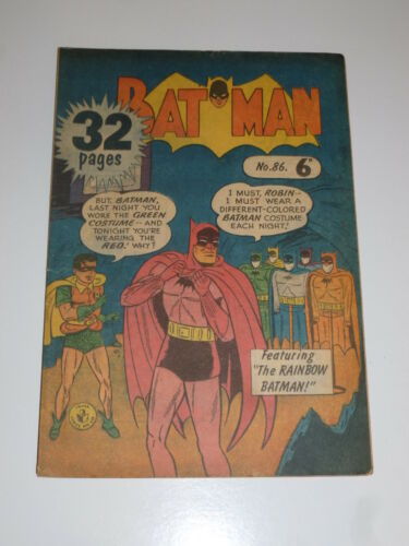 No 86 Sungravure Comics BATMAN Comic Date ? UK Comic