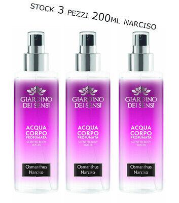 3PZ STOCK GIARDINO DEI SENSI ACQUA PROFUMATA CORPO Spray Narciso Osmanthus 200ml | eBay