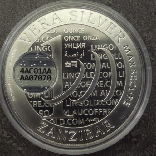 2015 VERA ZANZIBAR QR CODED 1 OUNCE SILVER BULLION COIN