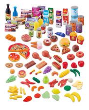 120 Piece Plastic Toy Play Food Fruit Vegetable Cakes Kids Grocers Shop Set 549