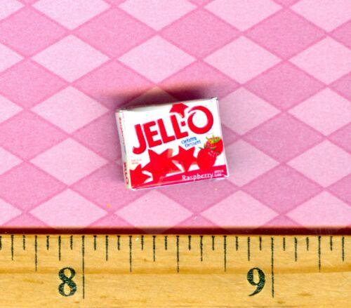 Dollhouse Miniatures  Size STRAWBERRY GELATIN Box