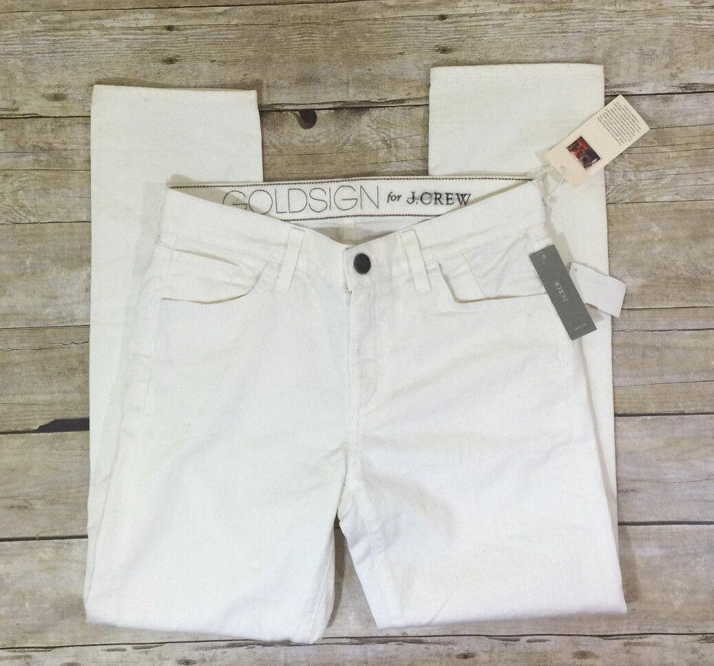 NWT New goldsign for J.Crew Jenny jean ecru44360 Classic fit Ivory Sz 27 jeans