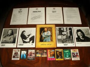 Details about HUGE LOT TRAVIS TRITT CONCERT MEMORABILIA - Backstage Passes,  Press Kits, Photos