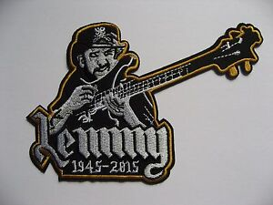 Details about Lemmy Kilmister Motorhead Motörhead Embroidered Iron On/Sew  on Patch Guitar