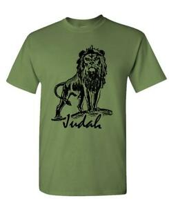 8a2df400 LION OF JUDAH - christian jesus christ god - Cotton Unisex T-Shirt ...