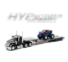 NEWRAY 1:43 DIE-CAST INTERNATIONAL LONESTAR FLATBED WITH MONSTER TRUCK 16653