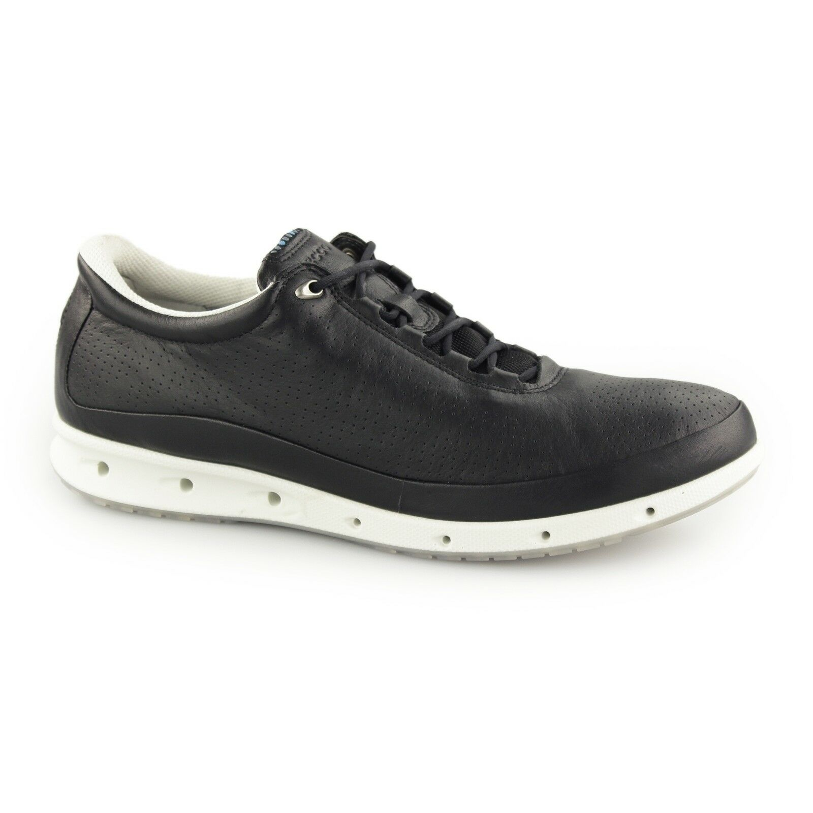 ECCO COOL Ladies Leather Lace Up Casual Gore-Tex Waterproof Trainers Black