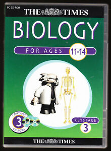Details about THE TIMES - BIOLOGY FOR KEY STAGE 3 (11-14) - 3 x PC CD-ROM  SET - UNUSED