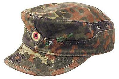 Cappello Mimetica FLECKTARN Uniforme Militare Tedesca - ORIGINALE