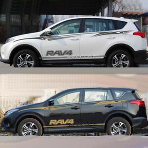 2 PCS Vinyl Auto Waist Line Stripe Car Sticker Doors Decal For Toyota RAV4 SUV