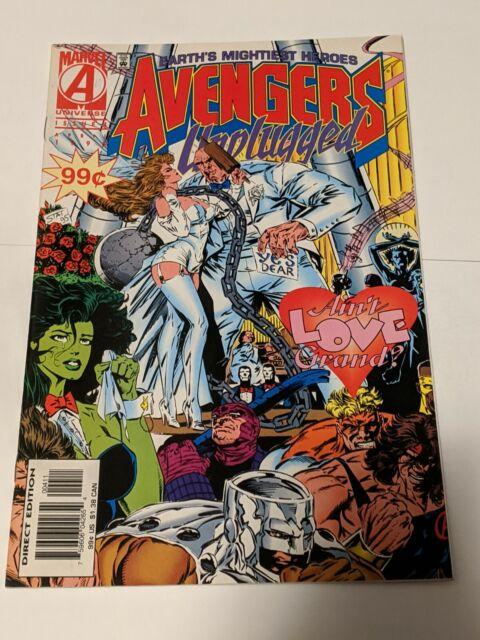 Avengers Unplugged #4 April 1996 Marvel Comics