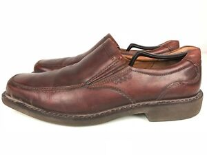 Details about Ecco Apron Toe Loafer Shock Point Slip On Leather Brown Men's Size 43 US 99.5