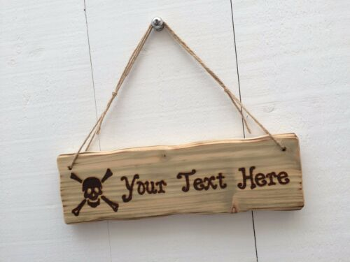 Driftwood Style Shabby Chic Custom Made Wooden Pirate Child/'s Room Den Shed Sign