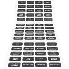 Blue Sea 8214 Black Small Format Boat Marine Electric Label Kit - 60 Labels