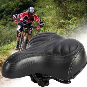 UK Extra Wide Comfy Cushioned Bike Seat Soft Padded Bicycle GEL Universal Saddle