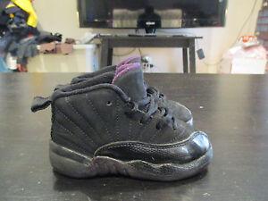 afae48e0275d Nike Air Jordan Shoes Retro 12 Purple Black Toddler 6c Boys Girls 6 ...