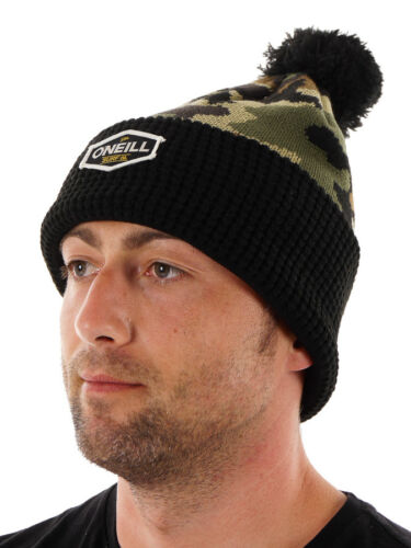 O/'Neill Beanie Hat Winter Accessory Green Kemosabe Pompom Camouflage