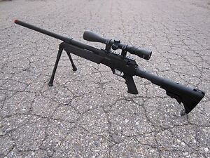 One-Air-Soft-Well-SR-2-Airsoft-Bolt-Action-Sniper-Rifle-Scope-Bipod-470-FPS