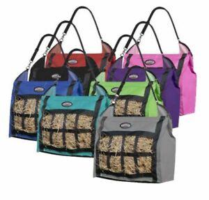 Showman Slow Feed Heavy Duty Nylon Hay Bag Tote