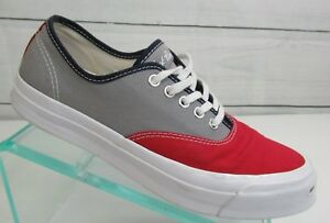 5c3fb394bd83 Men s Converse Jack Purcell Signature Ox Low Top Red Grey Shoes Size ...