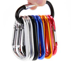 10Pcs-Camping-Aluminum-D-Shape-Buckle-Carabiner-Survial-Key-Chain-Hook-Clip-DD