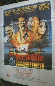 XLFilmplakat,Plakat,DIE SEEWÖLFE KOMMEN,REGORY PECK,ROGER MOORE,D NIVEN #128