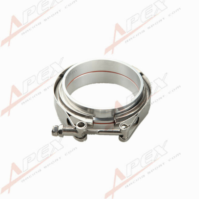 "4""V-Band Vband Clamp Aluminum Flange Flanges Turbo Intercooler Piping Kit"