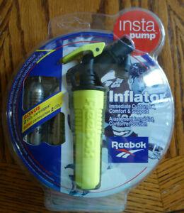 Vintage Reebok Insta Pump Inflator With 2 CO2 Cartridges New Sealed Package