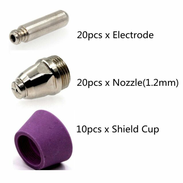 Electrode 10pcs SuperCut 50P PILOT ARC 50amp plasma cutter by Everlast 60a