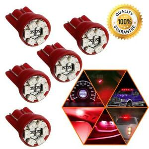 5x Red T10 194 LED Instrument Panel Parking Backup Tail 3rd Stop Light Bulbs