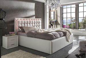 led polsterbett las vegas mit bettkasten 90x200 140x200 160x200 180x200 200x200 ebay. Black Bedroom Furniture Sets. Home Design Ideas