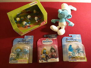 """(5) """" THE SMURFS """" mini COLLECTION ALL COMPLETE FACTORY SEALED & ISSUED !"""