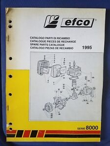 Details about Efco 1995 Spare Parts Catalog - Brushcutter - 8000 Series