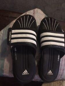 Adidas Mens Fit Foam Superstar Slide On Sandals Black