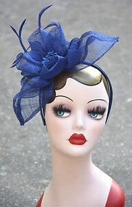 Womens Sinamay Fascinator Cocktail Hat Wedding headwear headband A359