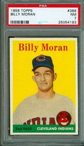 1958-Topps-Billy-Moran-388-PSA-7-Indians-Cool-Card