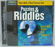 Puzzles & Riddles 2.0 Ages 10+ Victory Multimedia CD-ROM No Scratches Win 95 98