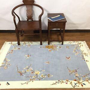 YILONG-4-039-x6-039-Blue-Vase-Handmade-Wool-Carpet-Chinese-Art-Decor-Woolen-Area-Rug