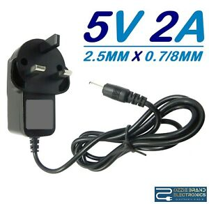 """5V 3A UK Mains AC Wall Adapter Power Supply Charger Android Tablet 7/"""" 8 9/"""" 10.1/"""""""